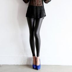 Koo - Fleece-Lined Faux Leather Leggings