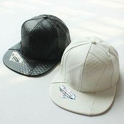 EVEN - 仿皮棒球帽