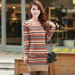Autunno - Patterned Long Knit Top
