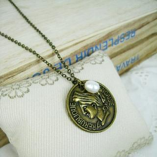 MyLittleThing - Copper Vintage Coin Short Necklace