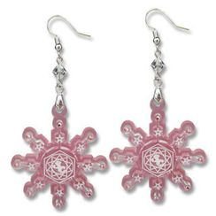 Sweet & Co. - Sweet&Co. Pink Snow Flurry Swarovski Crystal Earrings