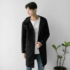 Seoul Homme - Single-Breast Hoodie Coat