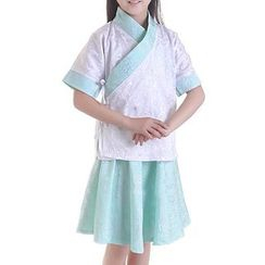 Willow Tree - Kids Set: Chinese Top + Skirt