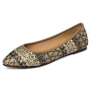 yeswalker - Mixed Print Sequined Flats