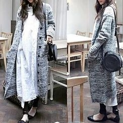 FR - Melange Long Cardigan