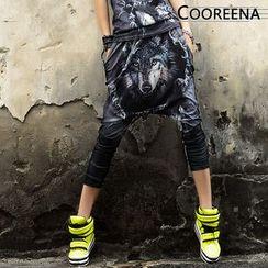 Cooreena - Wolf-Print Harem Pants