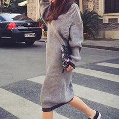 Fancy Show - Long-Sleeve Sweater Dress