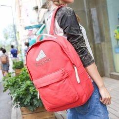 Seok - Set of 4: Print Canvas Backpack + Crossbody Bag + Coin Purse + Drawstring Pouch