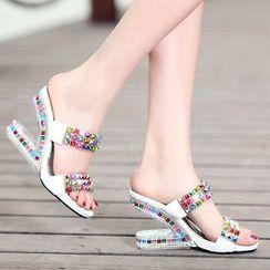 Romantina - Wedge Rhinestone Sandals