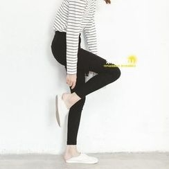MITU - Elastic Waist Skinny Pants