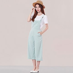 Nimill - Cropped Pinafore Jumpsuit