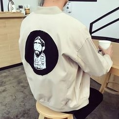 T for TOP - Printed Back Zip Jacket