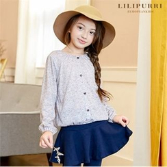 LILIPURRI - Girls Button-Front Top