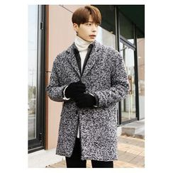 HOTBOOM - Notched-Lapel Tweed Coat