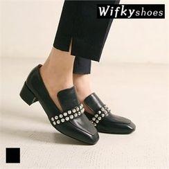 Wifky - Studded Chunky-Heel Pumps