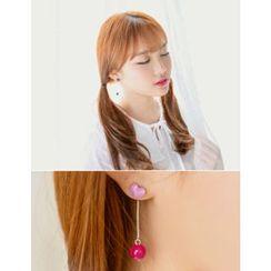 soo n soo - Shape Drop Earrings (2 Type)