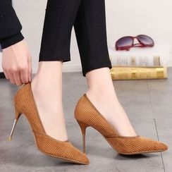 Forkix Boots - Corduroy Pointy Pumps