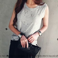 NANING9 - Perforated Tank Top