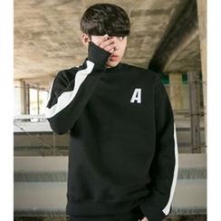 ABOKI - Contrast-Trim Sweatshirt