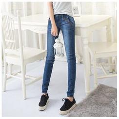 Denimot - Washed Slim-Fit Jeans