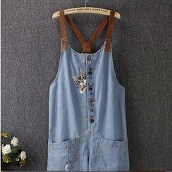 Blue Rose - Button Jumper Shorts
