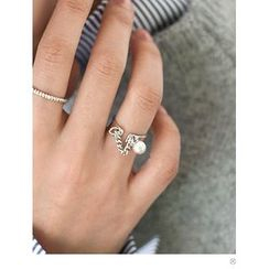PINKROCKET - Faux-Pearl Chain Ring
