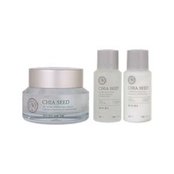 The Face Shop - Chia Seed No Shine Hydrating Cream Set: Cream 50ml + Toner 32ml + Lotion 32ml