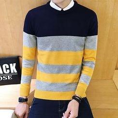 Alvicio - Colour Block Knit Top