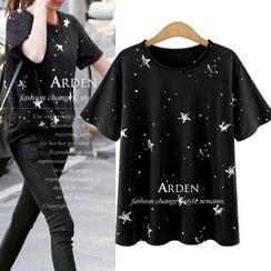 VIZZI - Star Print Short-Sleeve T-Shirt
