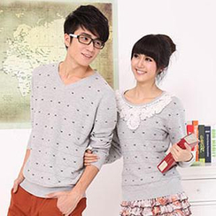Igsoo - Couple Long-Sleeve Knit Top