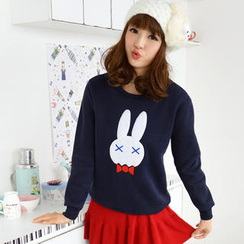 59 Seconds - Rabbit Print Fleece Pullover