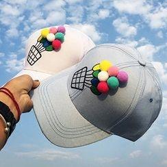卿本佳人 - 毛球棒球帽