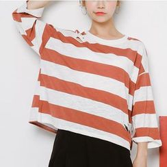 Woodie - 3/4-Sleeve Striped T-Shirt