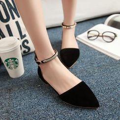 Megan - Ankle-Strap Flats