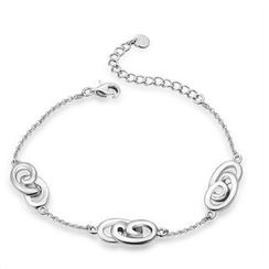 Bling Bling - Bling Bling Platinum Plated 925 Sterling Silver Infinity Love Link Bracelet (6.5')