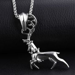 Creole - Reindeer Pendant Necklace