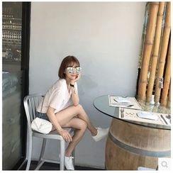 Imogen - 純色V領短袖T恤