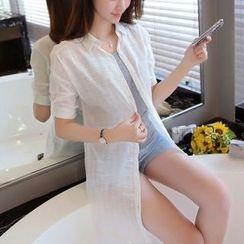 Cobogarden - Tab-Sleeve Long Shirt