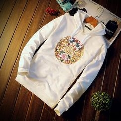 Eight Degrees - Embroidered Hoodie