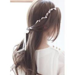 kitsch island - Faux-Pearl Bow Headband
