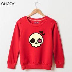 Onoza - 心眼骷髏印花衛衣