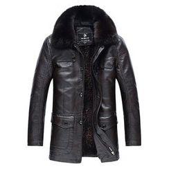 Best Gang - Faux-Fur Faux-Leather Jacket
