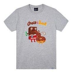 the shirts - Chocolate & Donut Print T-Shirt