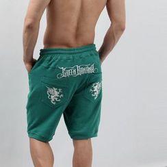 Green Banana - Embroidered Track Shorts