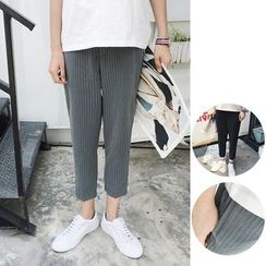 Chuoku - Cropped Striped Pants