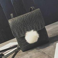 Nautilus Bags - Bobble Faux Leather Shoulder Bag