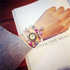 InShop Watches - Beaded Bracelet Watch