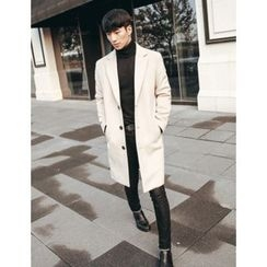 STYLEMAN - Wool-Blend Single-Breasted Long Coat