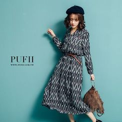 PUFII - Patter Dress with Belt