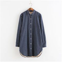 Lemon Town - Check Long Shirt